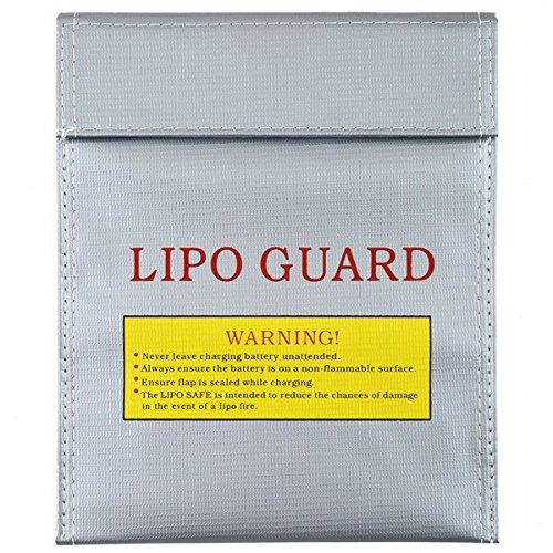 ELEOPTION 1Pc Fireproof RC LiPo Battery Safety Bag Safe Guard Charge Sack 180 X230 mm