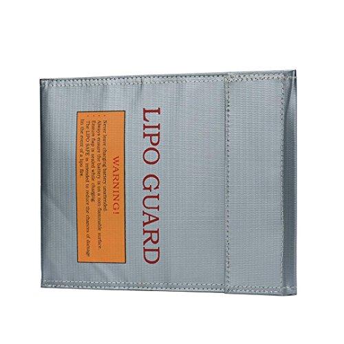 Tiean LiPo Li-Po Battery Fireproof Safety Guard Safe Bag Silver
