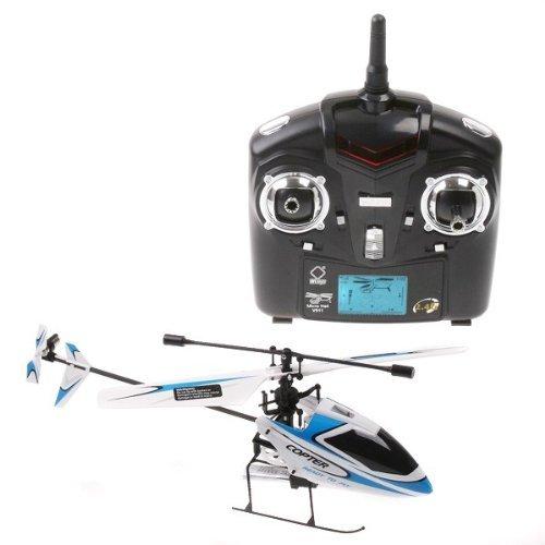 4CH 24GHz Mini Radio Single Propeller RC Helicopter Gyro V911 RTF White&Blue