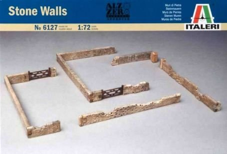 ITALERI Military Model 172 Accessories Stone Walls Scale Hobby 6127 T6127 with RCECHO Full Version Apps Edition