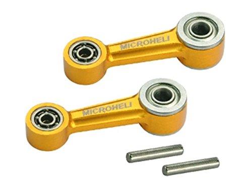 Microheli Aluminum Washout Control Arm set GOLD - BLADE 300 CFX