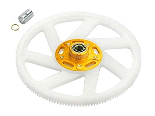 Microheli Delrin Main Gear w Auto-Rotation Hub set GOLD - BLADE 300 CFX