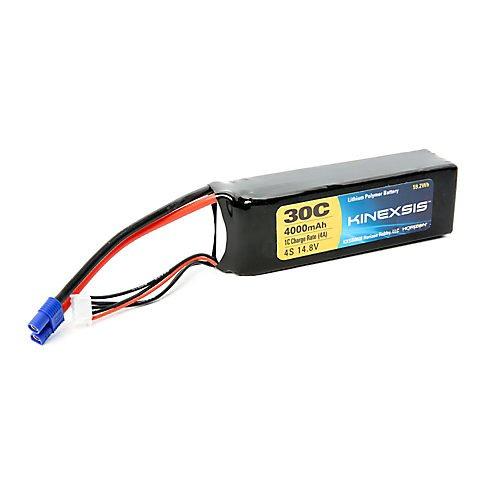 Kinexsis 148V 4000mAh 4S 30C LiPo 12AWG EC3 Battery