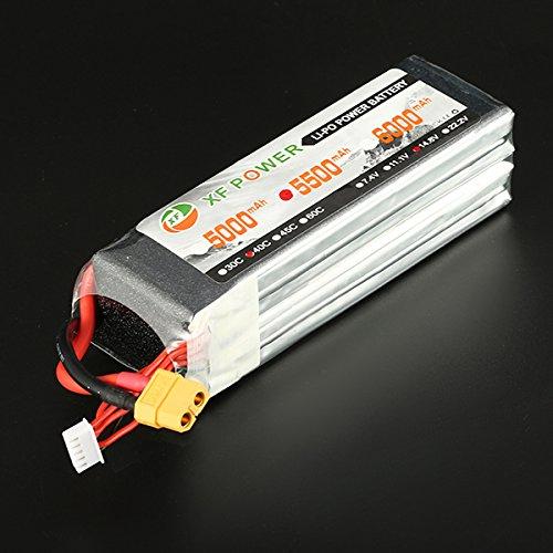 New XF Power 148V 5500mAh 40C 4S Lipo Battery XT60 Plug By KTOY