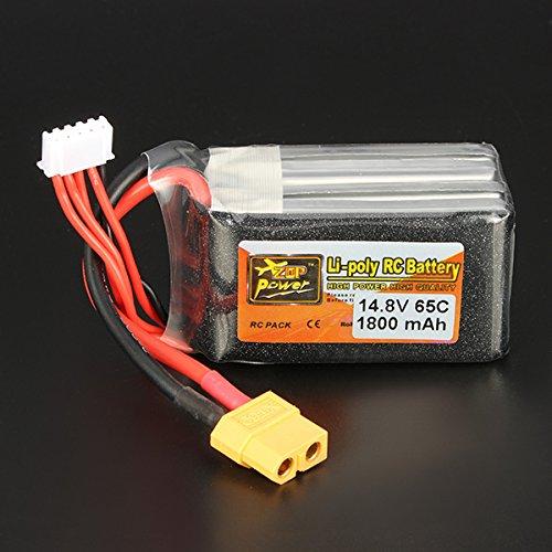 New ZOP Power 148V 1800mAh 65C 4S Lipo Battery XT60 Plug By KTOY