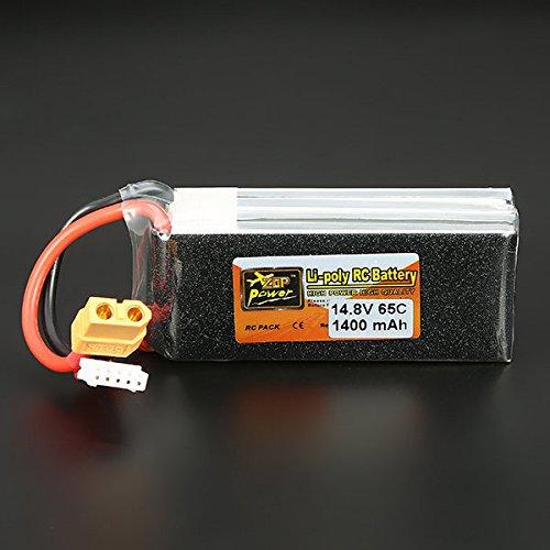 SICA ZOP Power 148V 1400mAh 65C 4S Lipo Battery XT60 Plug