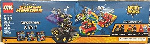 LEGO DC COMICS Super Heroes Mighty Micros 3 IN 1 Box Set - Batman vs Catwoman Robin vs Bane The Flash vs Captain Cold