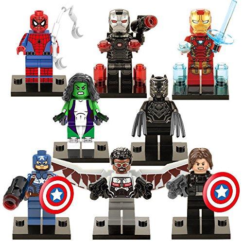 8 Sets MiniFigure Super Hero Avengers Building Toys