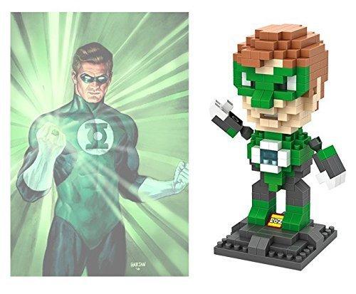 LOZ 260pcs Green Lantern Super Hero Avengers Building Block DIY Brick Toy 9454
