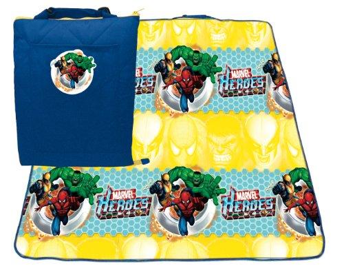 Marvel Comics Superheroes Avengers Infant Baby Boy Soft Playing Zip Up Activity Mat Playmat