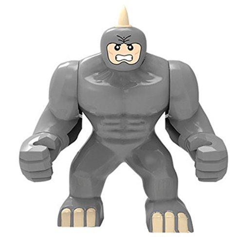 Single Minifigures Super Heroes The Avengers Marvel Series Thanos Hulk Venom Ironman Toys Building Blocks Bricks Pack Collection Toys Gift Rhino