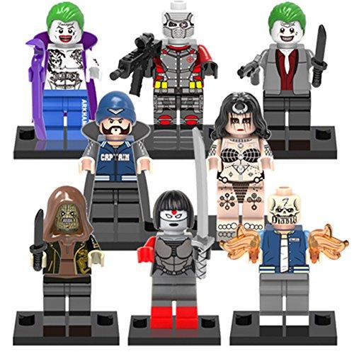 Suicide Squad Movie Super Heroes Avengers clown Samurai sword Minifigures Compatible With Legoed