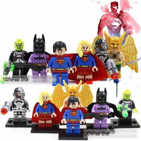 6 Piece DecoolMarvel SuperMan SuperWomen SuperHeroes Series Minifigures Building Blocks Figures Size 45-5 cm Without Original Box
