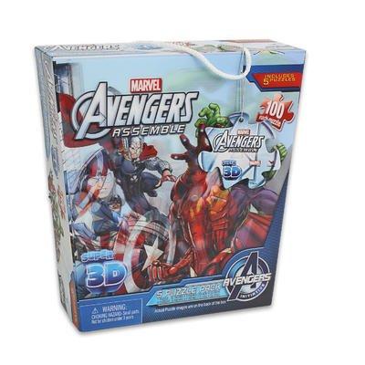Marvel Avengers Assemble Super 3DPuzzle Pack 5 Puzzles 100 Pieces Each