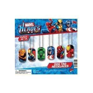 NEW Avengers Marvel SuperHero Dog Tags 6 count