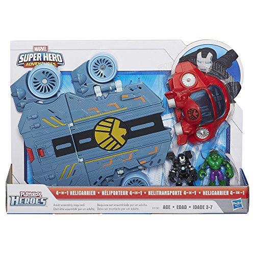 Playskool Heroes Marvel Super Hero Adventures Helicarrier Vehicle with War Machine Figure Discontinued by manufacturer