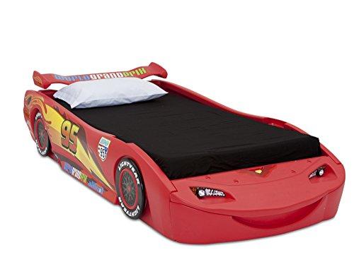 Delta Children Cars Lightning Mcqueen Twin Bed with Lights DisneyPixar Cars