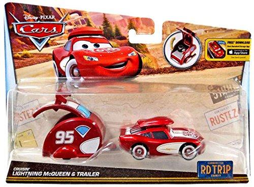 DisneyPixar Cars Carburetor County Road Trip Cruisin Lightning McQueen Die-Cast Vehicle with Trailer
