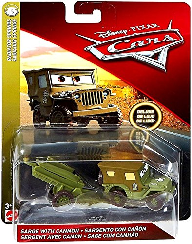 Sarge with Cannon Disney Cars Radiator Springs DieCast Deluxe Vehicle