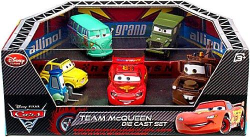 Disney  Pixar CARS 2 Movie Exclusive Die Cast Car 6Pack Playset Team McQueen