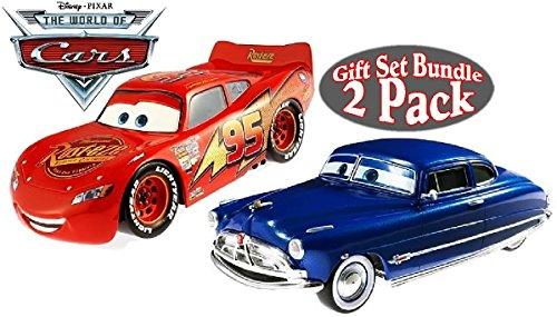 DisneyPixar Cars Lightning McQueen Doc Hudson Hudson Hornet Collectible 124 Scale Die-Cast Cars Gift Set Bundle - 2 Pack