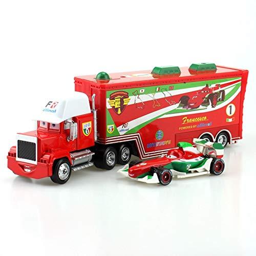 Disney 24 Styles Disney Pixar Cars Mack Truck Small Car McQueen Jackson Storm 155 Diecast Metal Alloy Car Toys Gift for Childrens 4