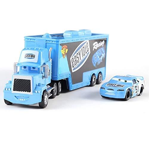 Disney Cars Disney Pixar Cars Mack Uncle Lightning McQueen King Francesco Chick Hicks Hudson Truck Car Set 155 Diecast Model Toy Car 13