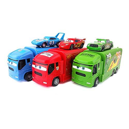 Disney Disney Pixar Cars Mack Lightning McQueen Chick Hicks King Truck Launcher Set 155 Diecast Toy Car Model Kids Boy Gift