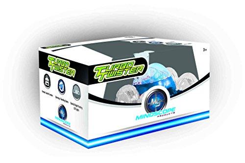 Mindscope Turbo Twisters BLUE 49 MHZ Bright LED Light Up Stunt RC Remote Control Vehicle