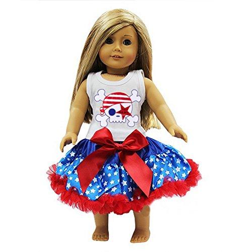 Kirei Sui 18 American Girl Blue Star Pettiskirt USA Flag Pirate Outfit