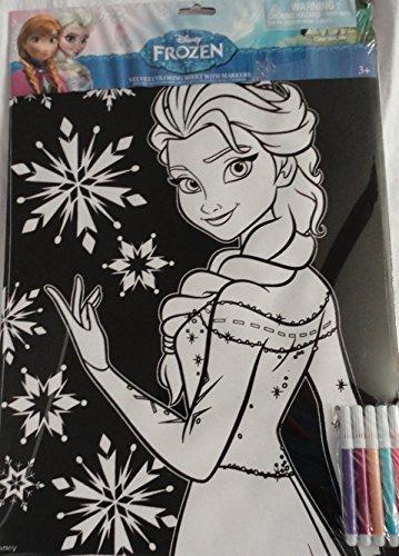 Disney Frozen Elsa Velvet Coloring Sheet with 5 Markers