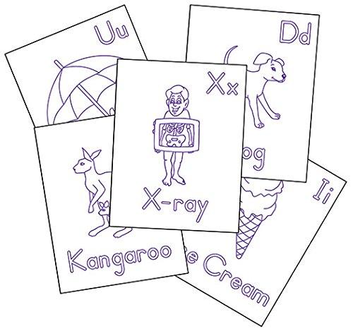 Raised Line Alphabet Coloring Sheets 26 Sheets