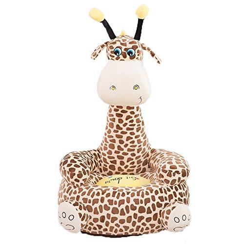 AugusWu Children Pp Cotton Plush Cartoon Toys Sofa animal Chairs for Kids Gift Giraffe 4