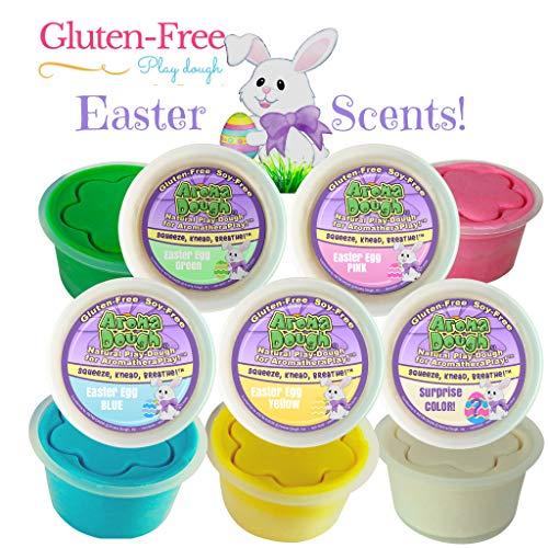 Aroma Dough Aromatherapy Dough - Non-Toxic Soy-Free Gluten Free Play Dough -Christmas SCENTS- Sensory Play Dough 5 Pack