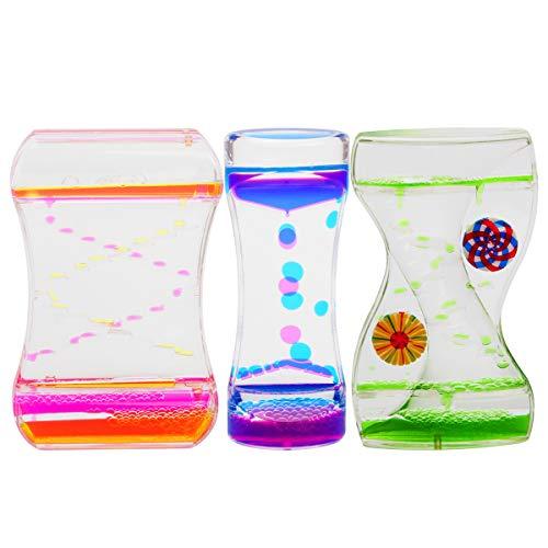 Coitak Liquid Motion Bubbler for Sensory Play Fidget Toy Children Activity Desk Top Assorted Colors