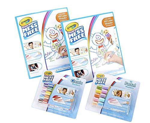 Crayola Color Wonder Mess Free Coloring Kit 80Piece Toddler Toys Gift