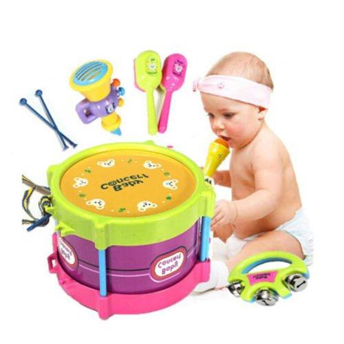 5PCS Baby Boy Girl Drum Set Musical Instruments Kids Drum Set Children Toy Gift - Country  Hong Kong