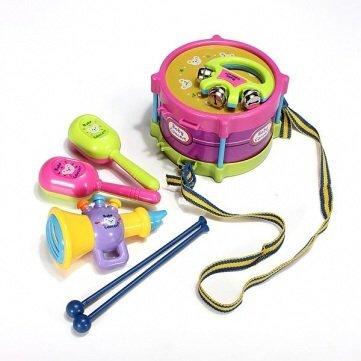 Baby Two-side Drum Musical Instruments Kids Drum Set Children Toy