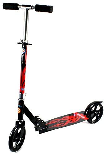 37 Zip Zap Jumbo Size Heavy Duty Childrens Two Wheeled Metal Toy Kick Scooter w Adjustable Handlebar Height Rear Fender Brake