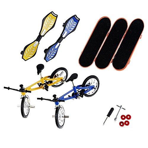 8Pcs Te-ch De-ck Finger Bike Bicycle and Skateboard Kids Children Wheel Toys Gifts