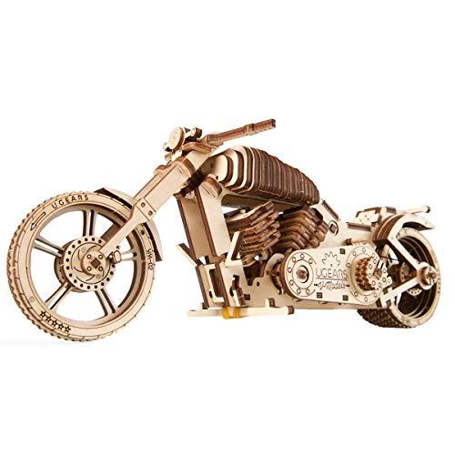 STEAM Line Toys UGears Models 3-D Wooden Puzzle - Mechanical Bike VM-02