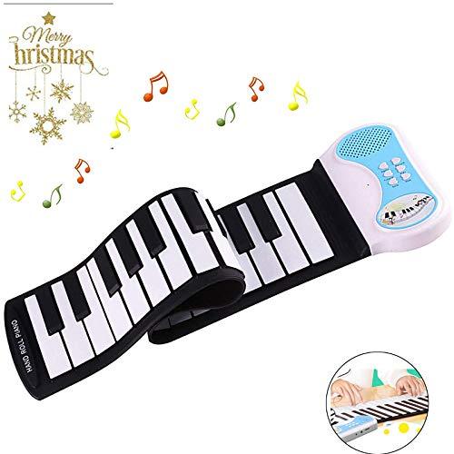 BGJOY Keyboard Piano 37 Keys Kids Piano Portable Electronic Kids Keyboard Piano Educational Toy Digital Music Piano Keyboard with Microphone Roll Up Piano for Kids Girls Boys Beginners