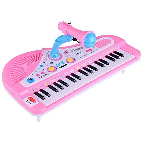 RONSHIN Electronic 37-Key Pluggable Multifunction Piano Keyboard with Microphone