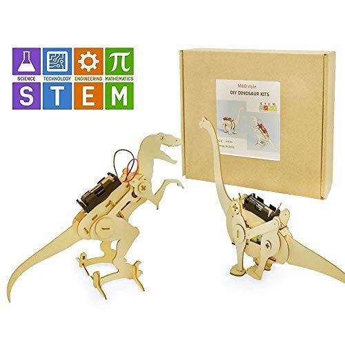 M&Ostyle Dinosaur Science Kits Dinosaur ToyScience Toy DIY STEM Toys for Kids Building Science Experiment Kits for Boys and Girls Tyrannosaurus Rex Brachiosaurus 2 Kits