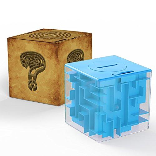 Acekid Money Maze Bank Coin Cash Bill Storage Box Game Change Toy Super Great GiftsBlue