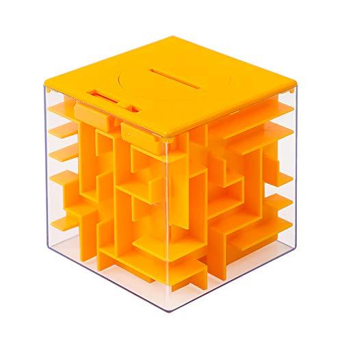Money Maze Puzzle Box TwisterCK Money Holder Puzzle for Kids and Adults Birthday Orange