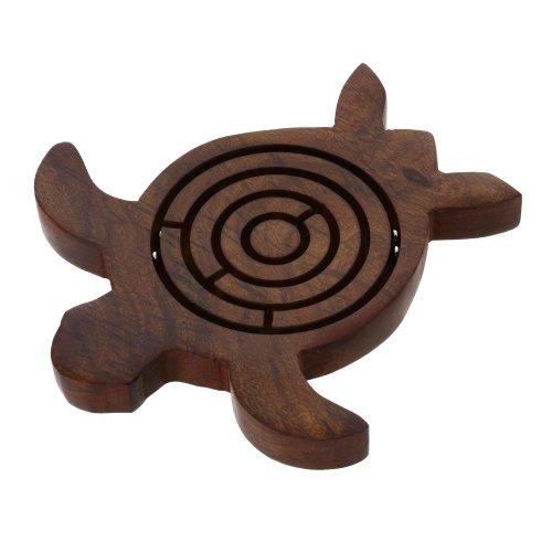 Shalinindia Wooden Turtle Labyrinth Maze 55 Inch