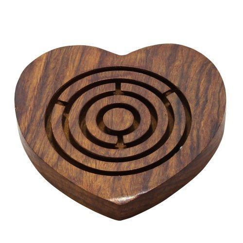 Wooden Games Puzzles Labyrinth Maze Heart Shape Brain Teaser Puzzle Gifts for Her by RoyaltyRoute