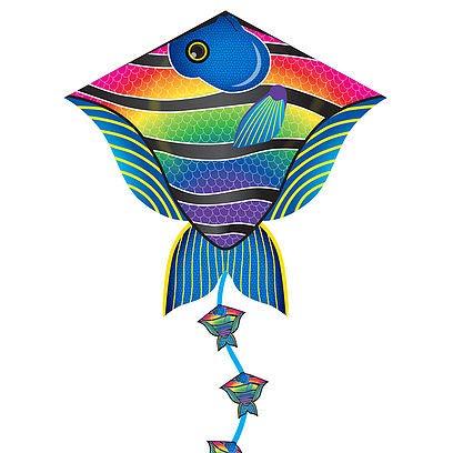 X-Kites Deluxe 30 DLX Diamond Nylon Kite with FancyTail - Reef Fish