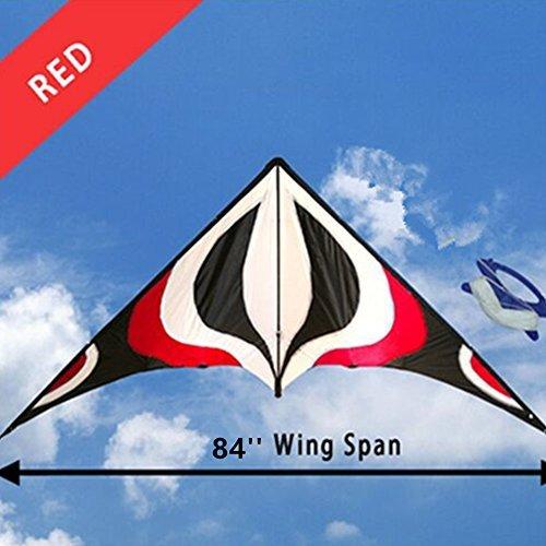 Babyeden Red Sport Prism Delta Dual-Line Stunt Kite 84-Inch by Babyeden